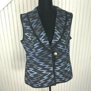 Pendleton Wool Leather Western Style Vest Aztec